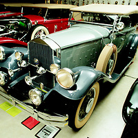 Charlie Chaplin's 1929 Pierce Arrow 4-door Dual Cowl Phaeton, which at one point belonged to Andy Granatelli